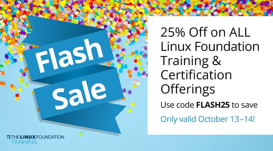 25% off Linux trainings